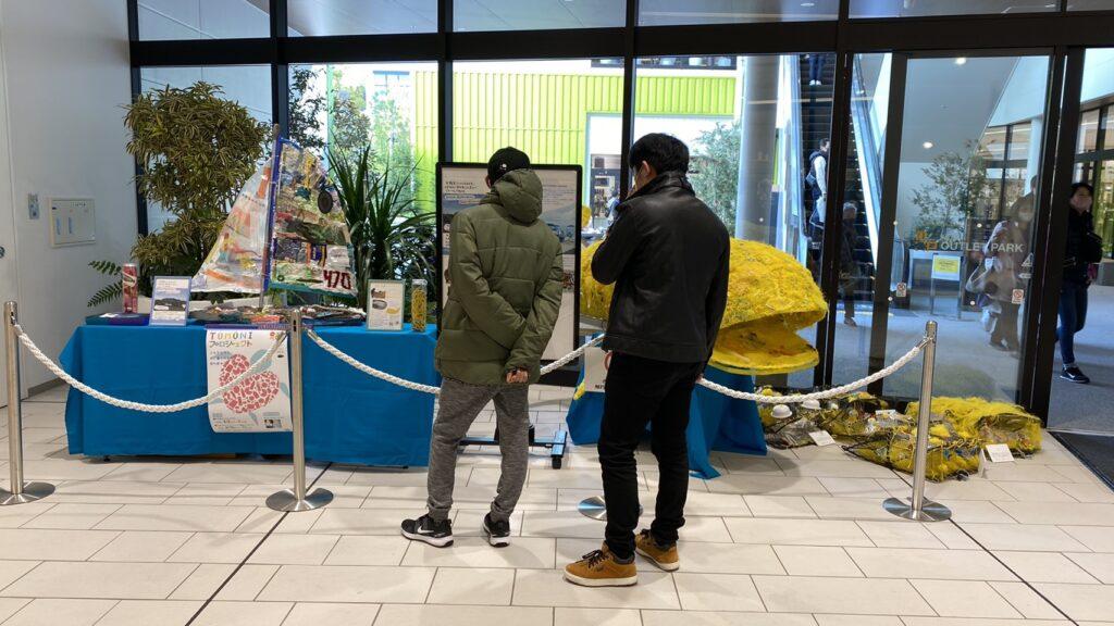 ORINASUスクラップでビルド、sdgsアート展示