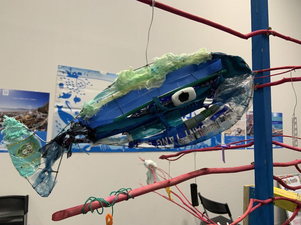 ORINASUスクラップでビルド、アップサイクルアート展示